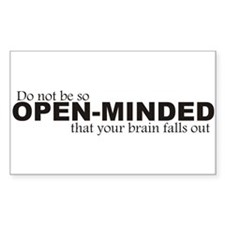 Open-Minded Rectangle Decal
