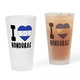 Honduras flag Pint Glasses