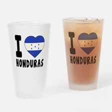 I Love Honduras Drinking Glass