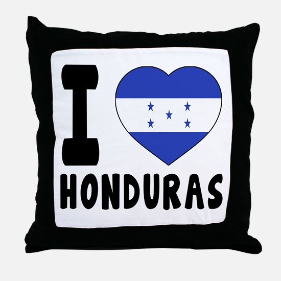 I Love Honduras Throw Pillow