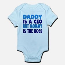 Daddy Is A CEO Mommy Is The Boss Body Suit