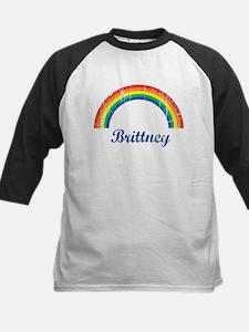 Brittney vintage rainbow Kids Baseball Jersey