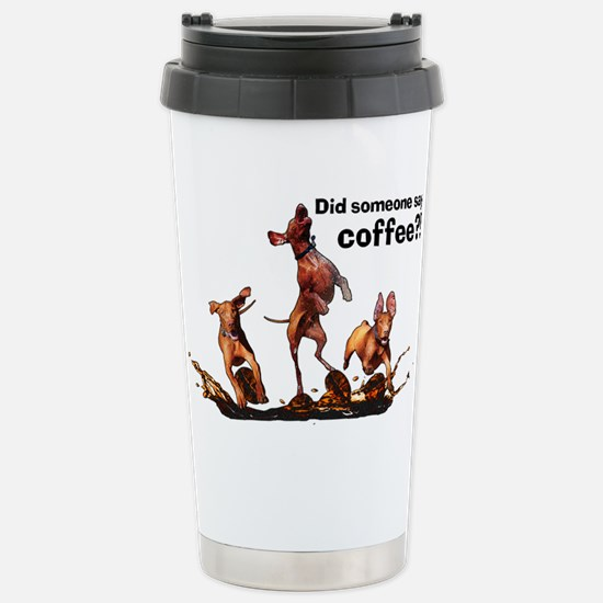 Coffee Vizslas Stainless Steel Travel Mug