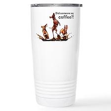 Coffee Vizslas Thermos Mug