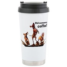 Coffee Vizslas Travel Mug