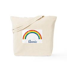 Annie vintage rainbow Tote Bag