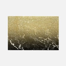 Modern girly luxurious faux gold  Rectangle Magnet