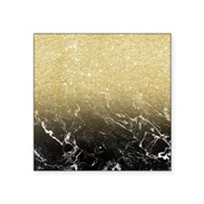 """Modern girly luxurious faux Square Sticker 3"""" x 3"""""""