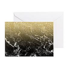 Modern girly luxurious faux gold gli Greeting Card