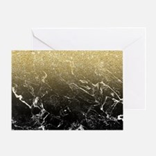 Modern girly luxurious faux gold gli Greeting Card