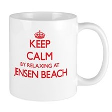 Keep calm by relaxing at Jensen Beach F Mugs