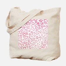 Modern girly pink ombre watercolor leopar Tote Bag
