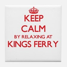 Keep calm by relaxing at Kings Ferry Tile Coaster