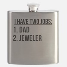 Two Jobs Dad And Jeweler Flask