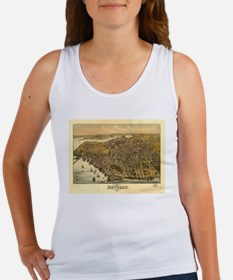 Vintage Pictorial Map of Beverly MA (1886 Tank Top