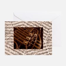 Musical Horn Greeting Card