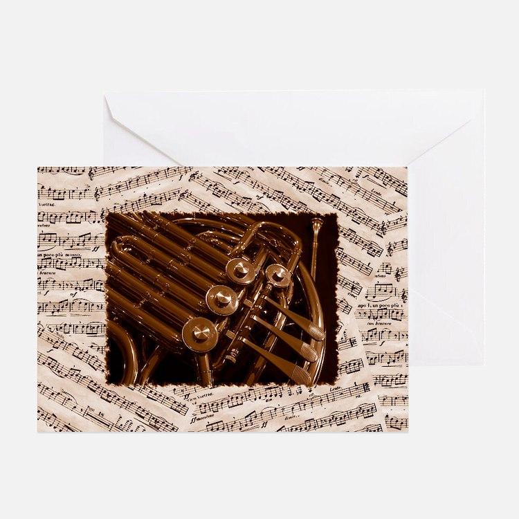 Musical Horn Greeting Card