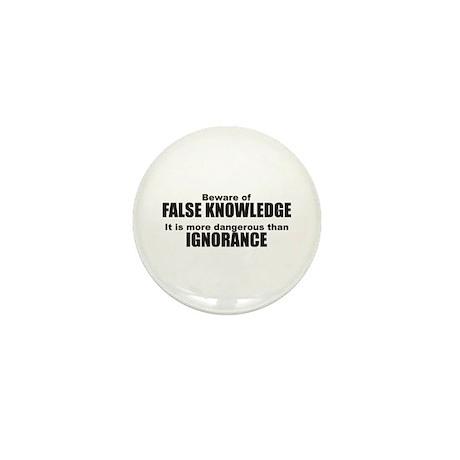Beware False Knowledge Mini Button