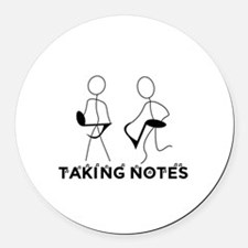 TAKING NOTES - MUSIC Round Car Magnet