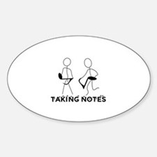 TAKING NOTES - MUSIC Decal