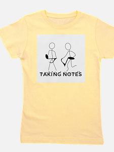 TAKING NOTES - MUSIC Girl's Tee