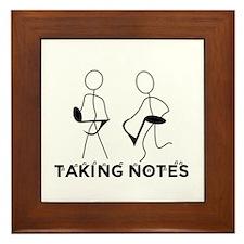 TAKING NOTES - MUSIC Framed Tile