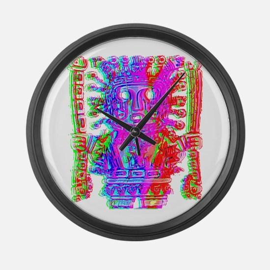 Cute Maya Large Wall Clock