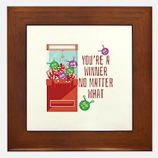 Youre A Winner Framed Tile