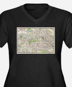 Vintage Map of Berlin Germany (1 Plus Size T-Shirt