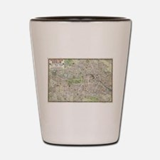 Vintage Map of Berlin Germany (1905) Shot Glass