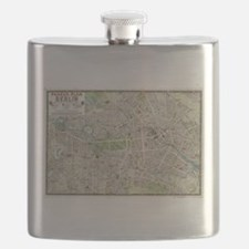 Vintage Map of Berlin Germany (1905) Flask