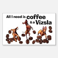 Cute Chocolate and coffee Sticker (Rectangle)