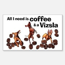 Cute Coffee and tea Sticker (Rectangle)