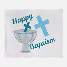 Happy Baptism Throw Blanket