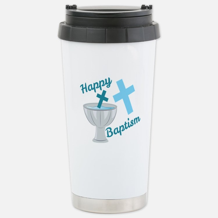 Happy Baptism Travel Mug