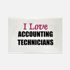I Love ACCOUNTING TECHNICIANS Rectangle Magnet