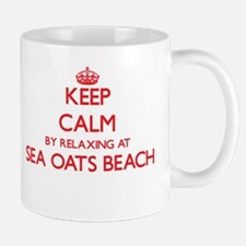 Keep calm by relaxing at Sea Oats Beach Flori Mugs