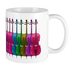 Colorful Cello Small Mug