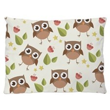 Retro Owl Pattern Dog Bed