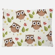 Retro Owl Pattern Dog Bed