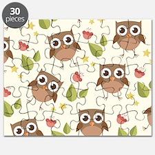 Retro Owl Pattern Puzzle