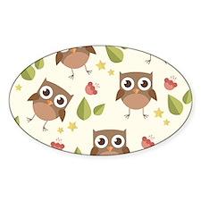 Retro Owl Pattern Decal
