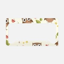 Retro Owl Pattern License Plate Holder