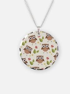 Retro Owl Pattern Necklace