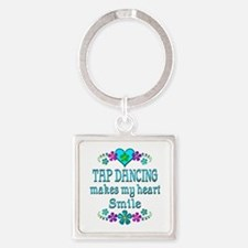 Tap Dancing Smiles Square Keychain