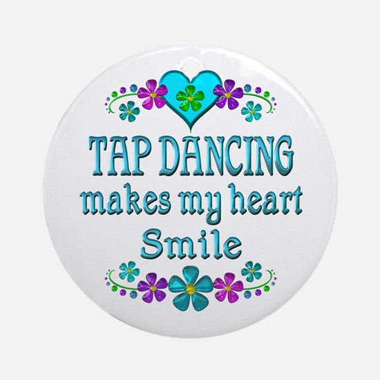Tap Dancing Smiles Round Ornament