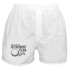 Golf Retirement Plan Boxer Shorts