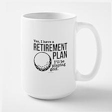 Golf Retirement Plan Mugs