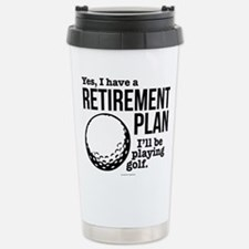 Golf Retirement Plan Travel Mug
