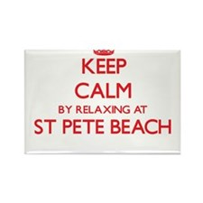 Keep calm by relaxing at St Pete Beach Flo Magnets